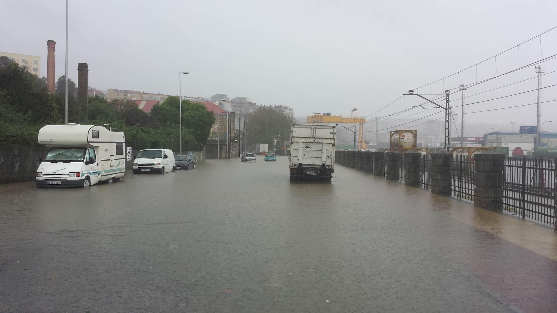Graves Inundaciones en Vigo Parte 1